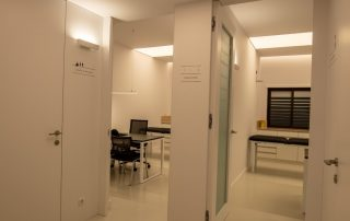 Hall distribuição da clínica.